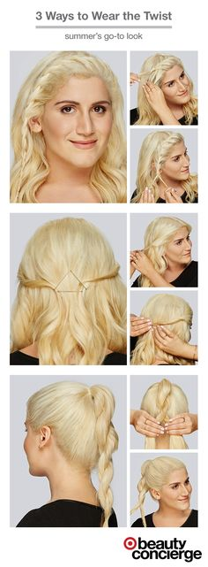 This season, hair twists are making their way into every sort of 'do. Twist Hairstyles, Pretty Hairstyles, Looks Cool, Hair Today, Hair Dos, Hair Designs, Hair Hacks, Hair Beauty, Beauty Tips