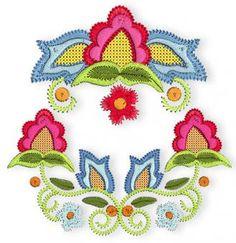 Folk Art Flowers Handlook Machine Embroidery Designs