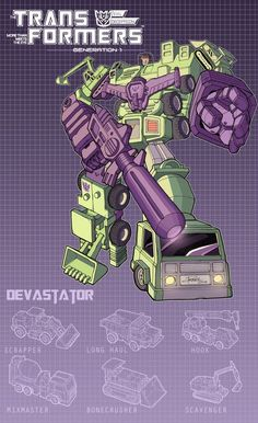 Decepticon Devastator- poster by J-Rayner.deviantart.com on @DeviantArt.com