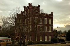 Old Colquitt County Jail, citadel style, built 1915, photographed by Brian Brown.