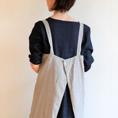 "Fog Linen Square Apron pattern inspiration - not sure this qualifies under ""fiber arts""  exactly but damn cute."