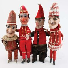 Four Distinctive Punch Puppets : Lot 49