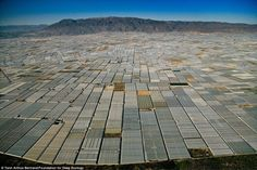 Greenhouses in San Augustin near Almeria, Andalusia, Spain by Yann Arthus-Bertrand Our Planet, Our World, Plastic In The Sea, Chris Jordan, Arthus Bertrand, Dramatic Photos, Greenhouse Growing, Greenhouse Farming, The Matrix