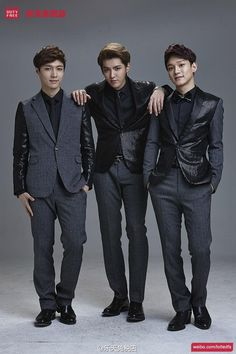 Twitter / SMTownFamily: {PROMO} 140401 Exo for Lotte Duty Free - Lay, Kris, Chen