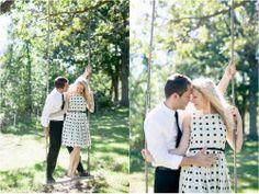 Adorable retro engagement photos & a swing. Cassandra Castaneda Photography. www.cassandracastanedaphoto.com