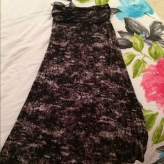 BKE maxi skirt New, never worn BKE maxi skirt! Super soft, light weight, elastic waist, size medium! Buckle Skirts Maxi