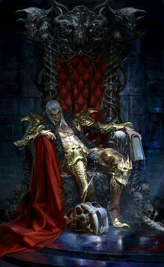 Vampire Lord (after Drakon) Dark Fantasy Art, Fantasy Artwork, Fantasy Male, Fantasy Warrior, Fantasy World, Warrior Angel, Fantasy Character Design, Character Art, Dungeons And Dragons