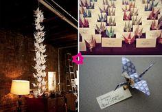 Dekoracje ślubne z origami