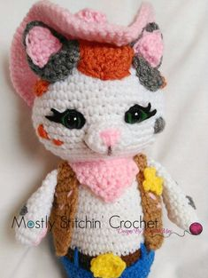Sheriff Callie Inspired CROCHET PATTERN PDF by MostlyStitchin