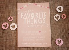 I really want to host a Favorite Things party next Christmas season. This site has so many cute party ideas for it!