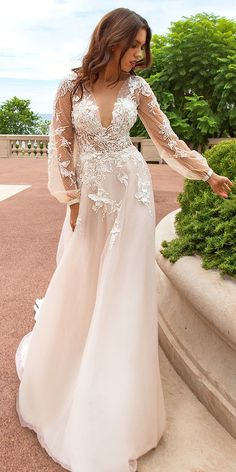 Best Crystal Design Wedding Dresses ❤ See more: http://www.weddingforward.com/crystal-design-wedding-dresses/ #weddings