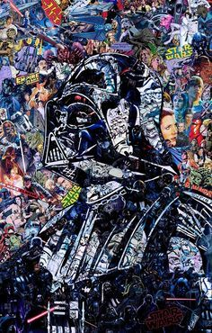 Amazing collage by Mr Garcin of Darth Vader                                                                                                                                                      More