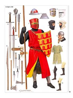 Let us take a gander at ten incredible facts one should know about the medieval English knights of the century. Medieval Weapons, Medieval Knight, Medieval Fantasy, Armadura Medieval, English Knights, Costume Français, High Middle Ages, Templer, Landsknecht