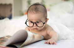The little guy is already a scholar!