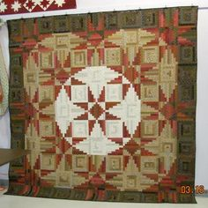 Here is my second project from Judy Martin's Log Cabin Quilt Book - Sequoia Stars. It was made as a class sample using an assortment of Civil War reproduction fabrics.  Doris Hareland, Monticello, MN
