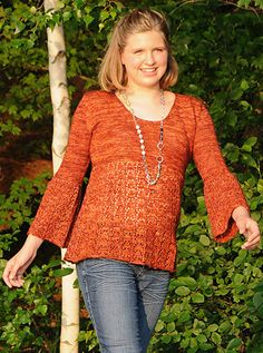 Galanthus Pullover from Knitty Winter 2013.  I would change the sweater to do only two or three repeats of the lace pattern.  I'm thinking of using Lorna's Laces Helen's Lace in a spring colorway.