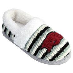 Women's Arkansas Razorbacks Striped Sweater Slipers, Size: