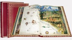 Vallard Atlas (Dieppe, 16th C.) The Huntington Library, San Marino (CA), USA. Rare Books, First Edition. Maps & Atlases. Like the Atlas Miller, one of its most noteworthy characteristics are the miniatures depicting colonization scenes from the 16th century, plus countless illustrations of the daily life of the native population.