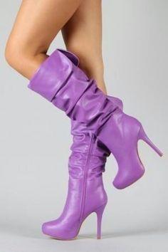 delicious purple boots