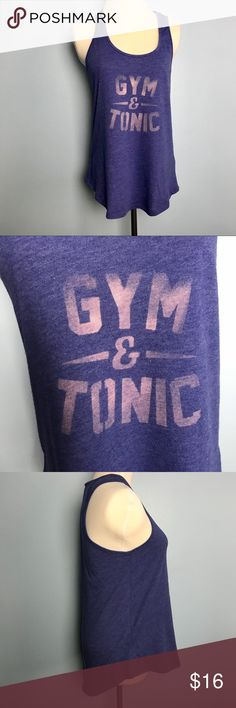 """alternative apparel • gym and tonic tank Great condition, no flaws. Cotton.  Royal blue color.  18.5"""" across chest 26.5"""" length Alternative Apparel Tops Tank Tops"""