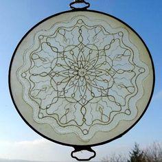 Mandala on the glass hand painted