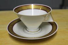 tea cup/ tasse à thé Art déco, Limoges, Union Porcelainière (1928-1963)