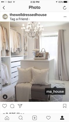 home decoration design Ikea Wardrobe, House 2, Oversized Mirror, Sweet Home, Curtains, Bedroom, Interior, Furniture, Instagram