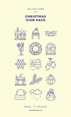 Download Christmas line Icons set made by iStar Design. Series of 100 vector flat icons, created by influence of the spirit of Christmas and the holiday season. Neatly organized icon, file and layer structure for better workflow experience. Carefully handcrafted icons usable for digital design or any possible creative field. Suitable for print, web, symbols, apps, infographics. Christmas Doodles, Christmas Card Crafts, Christmas Icons, Christmas Drawing, Christmas Design, Christmas Hat, Merry Christmas, Single Line Drawing, Ui Patterns