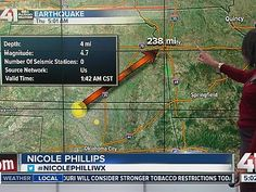 11/19/2015 - The magnitude 4.7 quake, centered in Oklahoma, but the temblor could be felt up to 1,200 miles away.