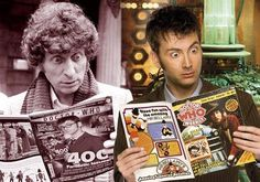 Tom Baker and David Tennant