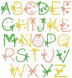 Christmas Gift Alphabet More