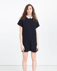 STRAIGHT CUT DRESS WITH COLLAR