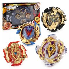 Bey Battle Burst High Performance Battling Top Set with Launcher Grip and Arena Battle Set (Gold Version) in Action & Toy Figures. Toy Story 3, Toddler Age, Toddler Toys, Best Kids Toys, Toys For Boys, Kids Boys, Bakugan Battle Brawlers Toys, Marvel Avengers, Beyblade Stadium
