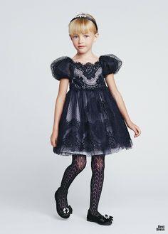 The Flower Girls' Dress - Dolce y Gabbana 2014 / bestdress.com.ua / The PINK w/ BLACK AND WHITE Wedding