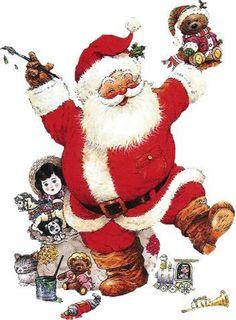 Santa feliz