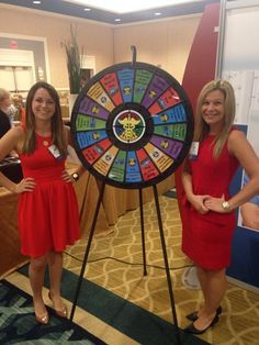 Come by and spin the wheel for some great prizes! Buy this Prize Wheel at http://http://PrizeWheel.com/products/floor-prize-wheels/floor-table-black-clicker-prize-wheel-18-slot/.