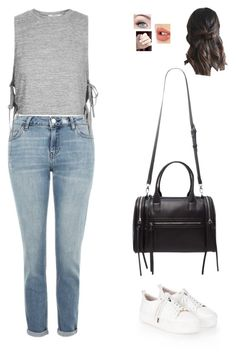 """""""Untitled #1231"""" by sophloveshaz ❤ liked on Polyvore featuring Topshop, Forever 21 and Charlotte Tilbury"""