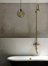 A stunning cast iron roll top bath!