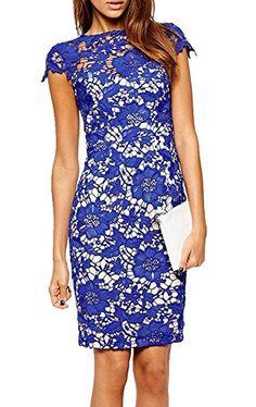 Sheinside® Women's Blue Cap Sleeve Crochet Lace Dress (L, Blue) Sheinside http://www.amazon.com/dp/B00QF5H7UK/ref=cm_sw_r_pi_dp_u7zawb0MFEWFZ