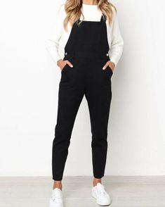 Orsle Leisure Black One-piece Jumpsuits - - Outfit ideen - Mode Outfits, Trendy Outfits, Fall Outfits, Summer Outfits, Woman Outfits, Hipster Outfits, Dress Summer, School Outfits, Summer Clothes