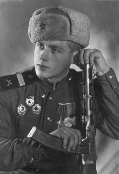 Soviet soldier. Ethnically Russian people. old photo