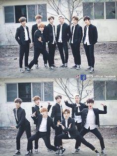 #防弹少年团# 全团表示:不能好好的拍一张帅气的团体照是我们的特色 - BTS防弹少年团 - ZEZE!啧啧