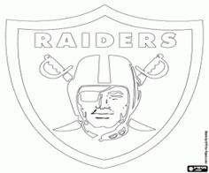 free oakland raiders logo american football club from the west division afc oakland california coloring and printable page