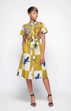 Naomi Shirt Dress – Dutch Wax Print ~DKK ~African fashion, Ankara, kitenge, African women dresses, African prints, African men's fashion, Nigerian style, Ghanaian fashion.