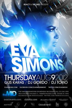 Market Rooftop Tonight, Eva Simmons at Mid, Friday Y and Adrianne Curry's 30th, Sat DJ Bounce and Nicky Romero