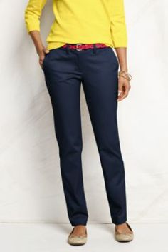 Women's True Slim Chino Pants from Lands' End