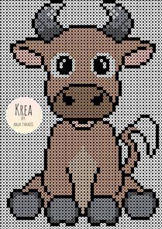Hama Beads Animals, Beaded Animals, Pearler Bead Patterns, Perler Patterns, Pixel Crochet Blanket, Hama Beads Design, Peler Beads, Perler Bead Art, Cross Stitch Animals