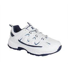 Starter Men's Memory Foam 4E Wide Width Athletic Shoe, Size: 9.5, White