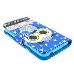 Star Owl Cartoon Pattern PU Leather Full Body Case-korttipaikka Samsung Galaxy S5 I9600 – EUR € 8.99