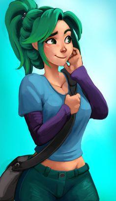 Green by Raichiyo33 on deviantART . Character Illustration Inspiration